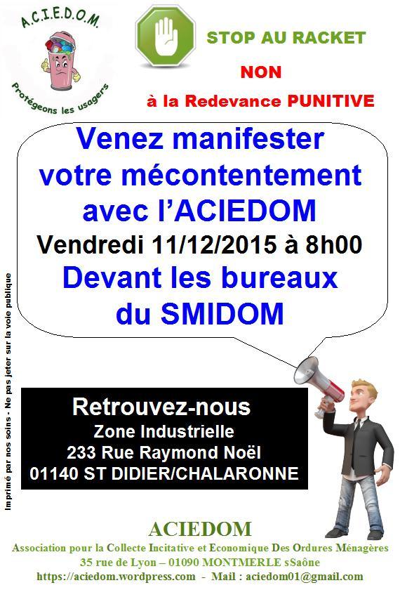 Manifestation devant SMIDOM du 11-12-2015